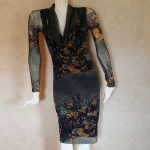 Authentic Jean Paul Gaultier Soleil floral dress